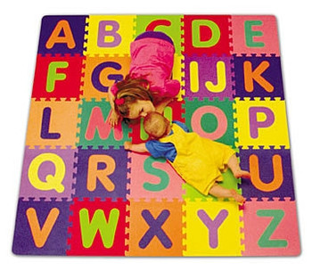 Interlocking Foam Alphabet Mat Set - 5' x 5' by Alessco 1