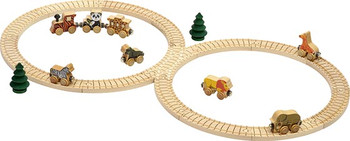 Safari Wooden Train Set