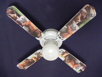 "Horses Horse Equestrian Ceiling Fan 42"""