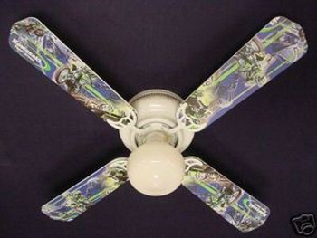 "Motocross Kawasaki Ceiling Fan 42"" 1"