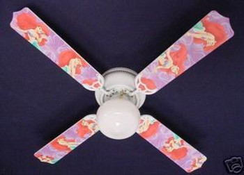 "Disney Little Mermaid Ariel Ceiling Fan 42"" 1"