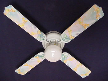 "Tinkerbell Fairy Green Ceiling Fan 42"" 1"