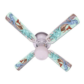 "Kids Dinosaur Dino Land Ceiling Fan 42"" 1"