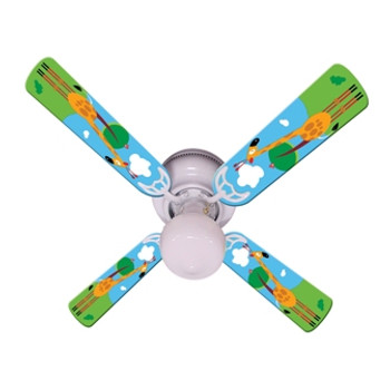 "Kids Hangin Tall Giraffe Ceiling Fan 42"" 1"