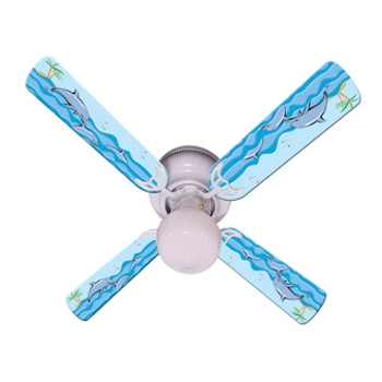 "Kids Playful Dolphins Ceiling Fan 42"" 1"