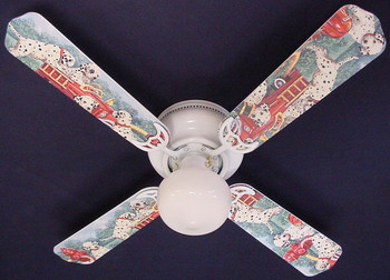 "Dalmations Fire Truck #1 Ceiling Fan 42"" 1"