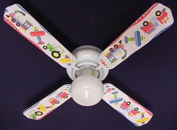 "Planes Trains Trucks Ceiling Fan 42"" 1"