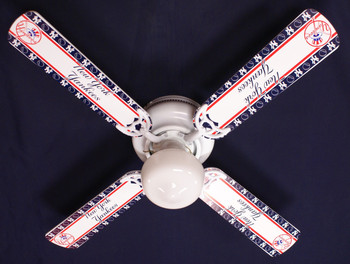 "MLB New York Yankees Baseball Ceiling Fan 42"" 1"