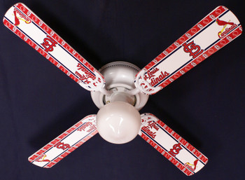 "MLB St. Louis Cardinals Baseball Ceiling Fan 42"" 1"