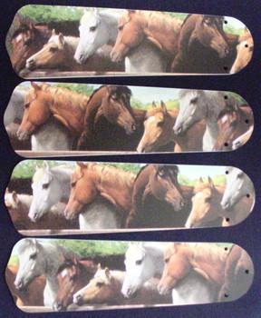 "Horses Horse Equestrian Ceiling Fan 42"" Blades"