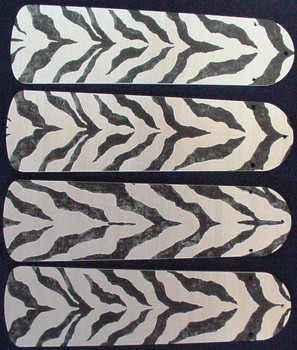 "African Safari Zebra Skin Ceiling Fan 42"" Blades Only 1"