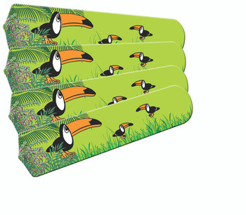"Kids Toucan Clan Ceiling Fan 42"" Blades Only 1"
