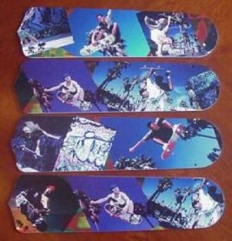 "Radical Skateboards Ceiling Fan 42"" Blades Only 1"