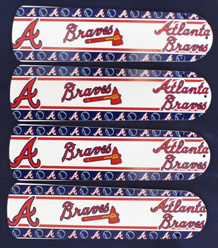 "MLB Atlanta Braves Baseball Ceiling Fan 42"" Blades Only 1"