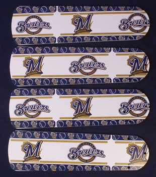 "Milwaukee Brewers Baseball Ceiling Fan 42"" Blades"