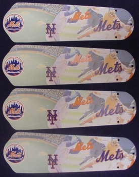 "New York Mets Baseball Ceiling Fan 42"" Blades"