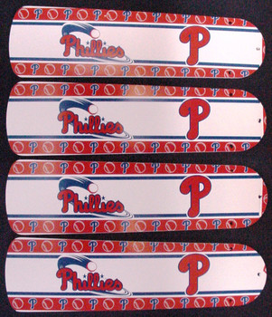"MLB Philadelphia Phillies Baseball Ceiling Fan 42"" Blades Only 1"