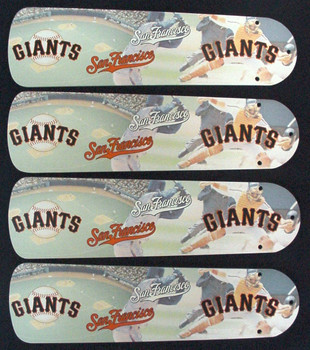 "MLB San Francisco Giants Baseball Ceiling Fan 42"" Blades Only 1"