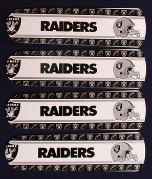 "NFL Las Vegas Raiders Football Ceiling Fan 42"" Blades Only 1"