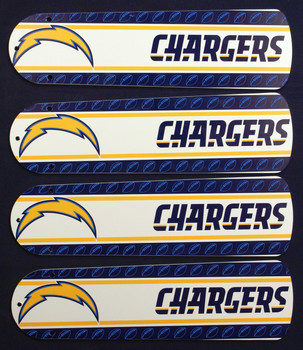 "NFL San Diego Chargers Football Ceiling Fan 42"" Blades Only 1"