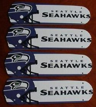 "Seattle Seahawks Football Ceiling Fan 42"" Blades"
