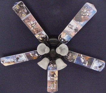 "Motocross Dirt Bikes Ceiling Fan 52"" 1"