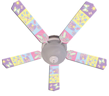 "Baby Nursery Happy Wings Ceiling Fan 52"" 1"