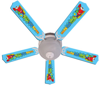 "Kids Train Choo Choo Ceiling Fan 52"" 1"