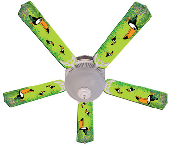 "Kids Toucan Clan Ceiling Fan 52"" 1"