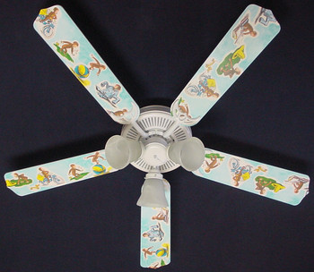 "Curious George Monkey Ceiling Fan 52"" 1"