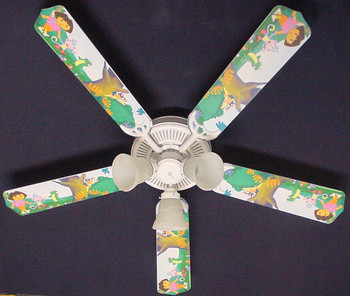 "Dora The Explorer & Boots Ceiling Fan 52"" 1"