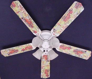 """Fire Trucks Ceiling Fan 52"""" 1"""
