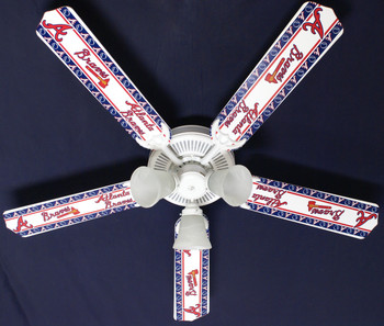 "MLB Atlanta Braves Baseball Ceiling Fan 52"" 1"