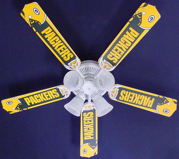 NFL Green Bay Packers Football Ceiling Fan 52""