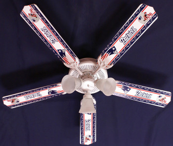 "NFL England Patriots Football Ceiling Fan 52"" 1"