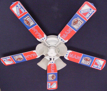 "NHL New York Rangers Hockey Ceiling Fan 52"" 1"