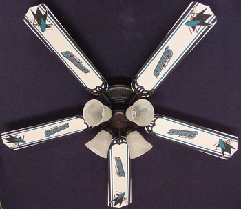 "NHL San Jose Sharks Hockey Ceiling Fan 52"" 1"