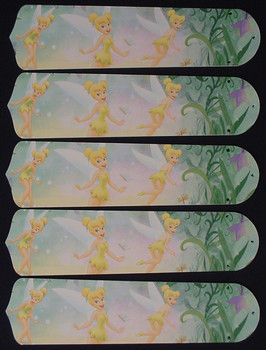 "Tinkerbell Fairy Green 52"" Ceiling Fan Blades Only 1"