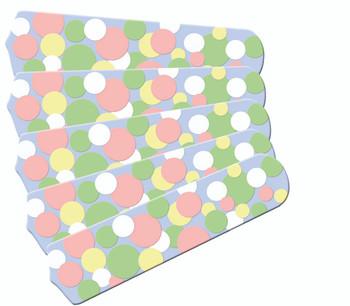 "Kids Soft Pastel Bubble Dots 52"" Ceiling Fan Blades Only 1"