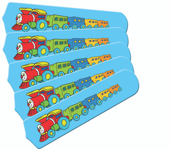 "Kids Train Choo Choo 52"" Ceiling Fan Blades Only 1"
