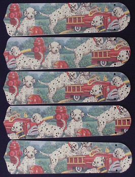"Dalmations Fire Truck #1 52"" Ceiling Fan Blades Only 1"