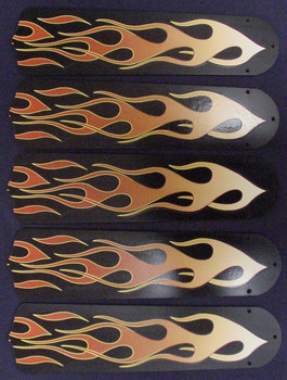 """Flames 52"""" Ceiling Fan Blades Only 1"""