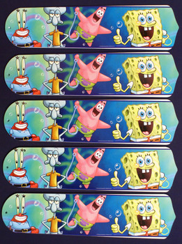 "Sponge Bob Square Pants 52"" Ceiling Fan Blades Only 1"