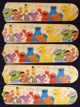 "Sesame Street Elmo Big Bird 52"" Ceiling Fan Blades"