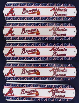 "MLB Atlanta Braves Baseball 52"" Ceiling Fan Blades Only 1"