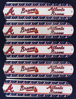 """MLB Atlanta Braves Baseball 52"""" Ceiling Fan Blades Only 1"""