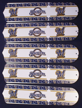 "Milwaukee Brewers Baseball 52"" Ceiling Fan Blades"