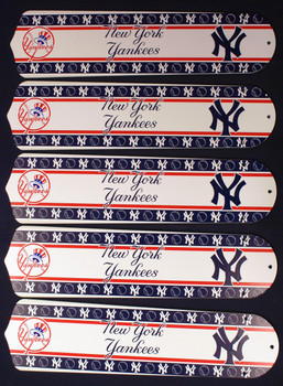 "MLB New York Yankees Baseball 52"" Ceiling Fan Blades Only 1"