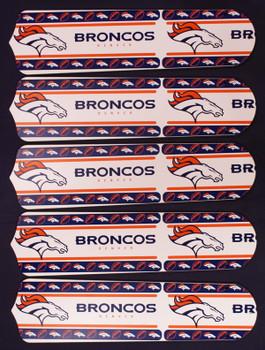 """NFL Denver Broncos Football 52"""" Ceiling Fan Blades Only"""