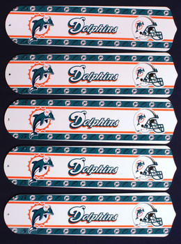 "NFL Miami Dolphins Football 52"" Ceiling Fan Blades Only 1"